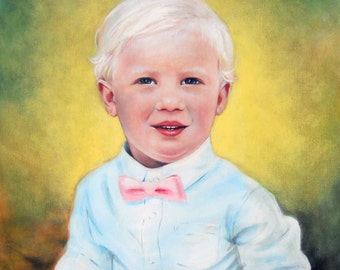 Precious Boy by Theresa Stites original acrylic on canvas board painting