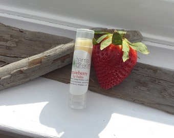 Strawberry Lip Balm, Strawberry Lips, Lip Moisturizer, For Her, For Him
