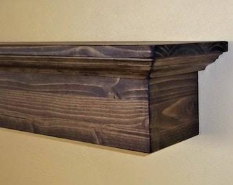 Rustic Fireplace Mantle - Fireplace Mantel Wall Shelf  -  Floating Wall Shelf - Wood Shelf -