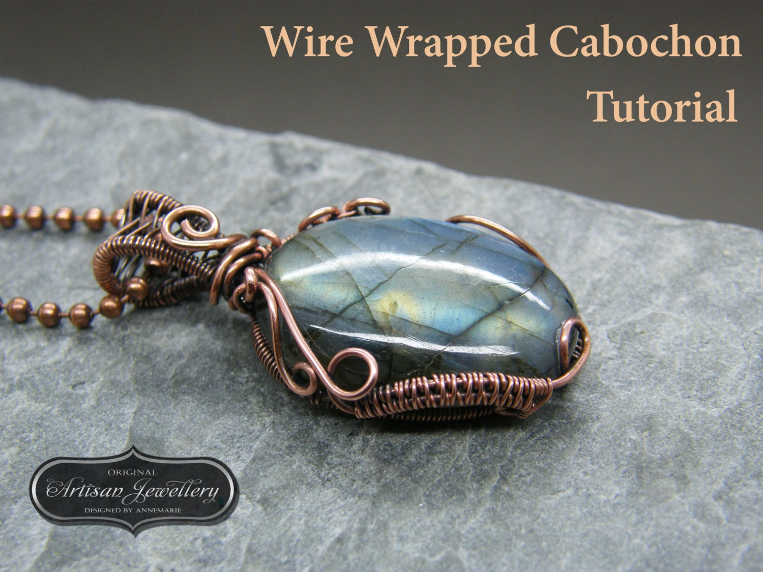 Wire wrapped pendant tutorial ~ Cabochon setting ~ Jewelry kit ...