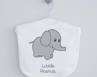 Baby elephant baby bibs - baby shower gift, birthday gift, newbaby gift, newborn, new baby, toddler dribble bib, feeding bib, drool, peanut