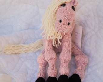 Knitted Horse Toy - Bethany