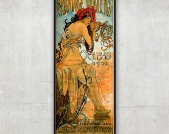 Art Nouveau poster - Carriage Dealers - Alphonse Mucha - Art nouveau print, Vintage poster, Mucha poster, P010