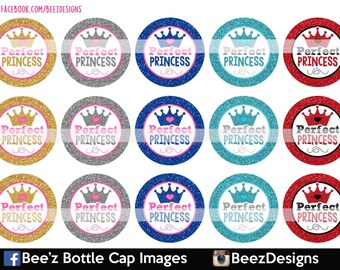 INSTANT DOWNLOAD- Perfect Princess- 1 Inch Bottlecap Images- 4x6 Digital Collage Sheet