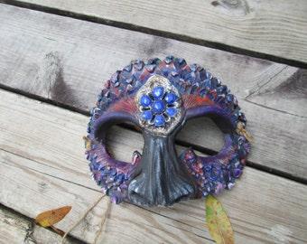 Strange bird, masquerade mask, Fantasy Costume, mardi gras mask, dragon mask, strange bird, ren faire mask, big eyes, labyrinth mask