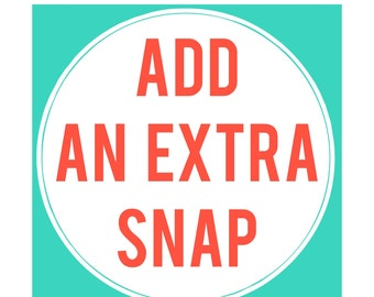 Additional Snap added to your Cloth Pad or Pantyliner