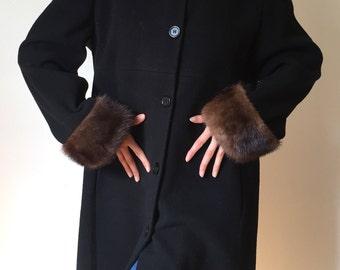 1980's Fur Trimmed Coat