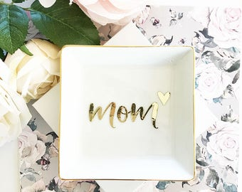 Gifts for Mom RING DISH Mothers Day Gift Ideas Mom Jewelry Mothers Day Jewelry Mom Gifts Mothers Day Gift from Daughter (EB3180MOM)
