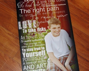 """Personalized PHOTO Giclee MOUNTED prints- custom made to order- 13"""" x 28"""""""