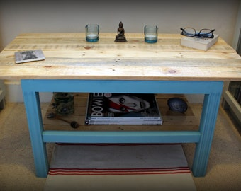 Upcycled & Reclaimed Coffee Table - Rustic, Farmhouse, Shabby Chic Furniture, Vintage Decor, Boho, Bohemian - Piano Stool Conversion!