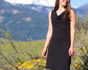 Organic Sundress - Lupine Cowl Tank Dress - eco-friendly fabric