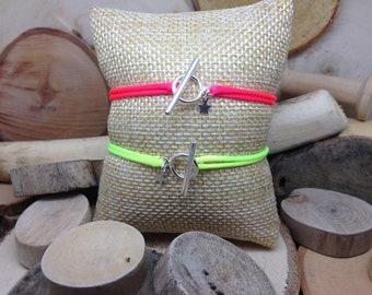 """Le bracelet """"Toggle Fluo"""" jaune"""