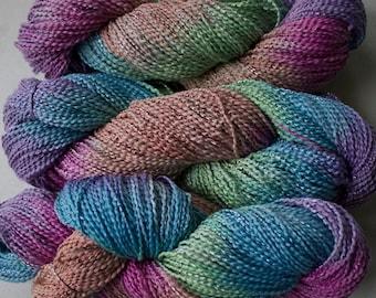 Dove, cott/ray stripe, hand dyed yarn, 300 yds - Fiesta