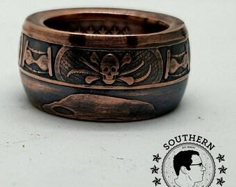 Memento Mori Ring. Copper