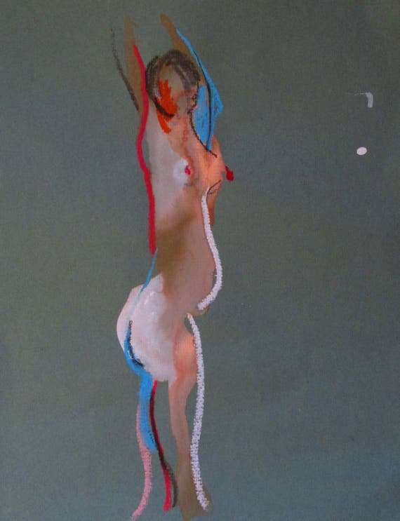 Nude painting of One minute pose 100.5 Original nude painting by Gretchen Kelly