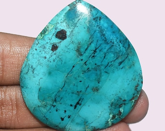 Natural Top Quality Chrysocolla AAA gemstone - Chrysocolla Jewelry - Chrysocolla stone - Chrysocolla cabochon 78.90 Cts 47x43x6 MM AM 2303
