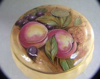 Vintage Ansley Lidded Container Hand Painted  Signed D.Jones