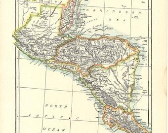 map of Guatemala and Honduras, a vintage printable digital download no. 573
