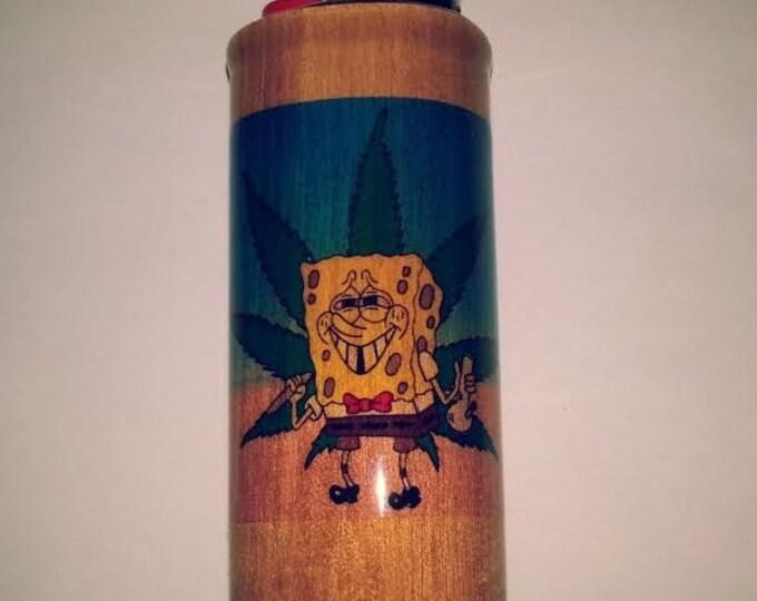 Sponge Bob Weed Lighter Case,  Lighter Holder, Lighter Sleeve
