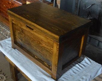 Handcrafted Rustic Cedar Lined Hope Chest,Treasure Box, Keepsake Box, Cedar Chest