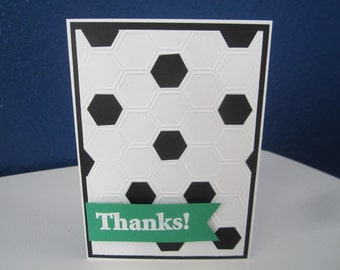 Soccer Thanks Coach Card