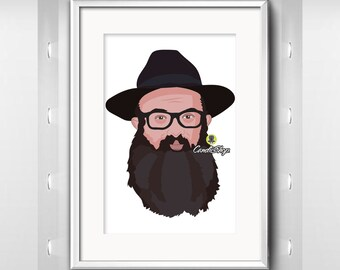 Gifts for Groomsmen - Custom Illustration, Custom Selfie, caricature from photograph, custom cartoon illustration, digital cartoon portrait