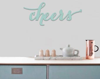 Cheers, Kitchen Decor, Cut Out Letters, Event Letters, Wedding, Baby Shower, Wooden Letters, Wooden Word, Painted Words, Home Decor