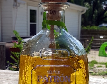 Patron Tiki Light Recycled For Citronella Fuel Torch