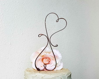 Hearts Wedding Cake Topper, Wedding Cake Decoration, Rustic Wedding Cake Decoration, Wine Wedding Cake Topper, Rustic Wedding