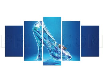 Cinderella Glass Slipper Romantic Fantasy Canvas Print Gift 5 Panels