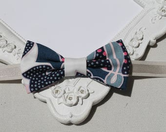 Bow tie with blue / pink / ivory - children