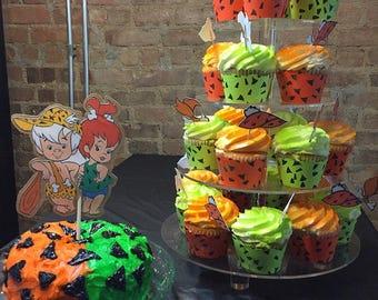 Pebbles Flintstone & Bam Bam Rubble Cake Toppers
