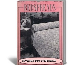 Bedspreads to Crochet and Knit, Coats & Clark Book No.244
