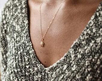 Sun Necklace, Tiny Necklace, Gold Sun Necklace, Necklace Gold, Sun Charm, Layered Necklace, Tiny Necklaces, Gold Necklace, Sun Pendant