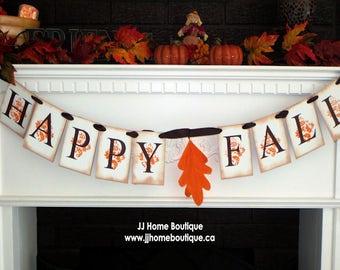 Happy Fall  Banner,Fall banner, Fall photo prop banner, Autumn garland, Thanksgiving Decor, Fall decoration banner