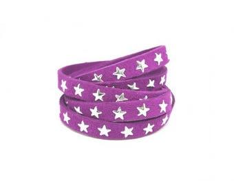 3 m suede Purple Star 8mm