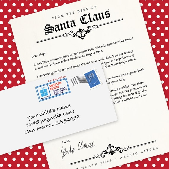 Letter from santa claus ms word template letterhead spiritdancerdesigns Image collections