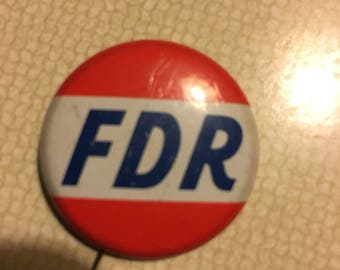Vintage FDR collectible pin 1936