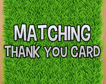 MATCHING thank you card fee - adds on