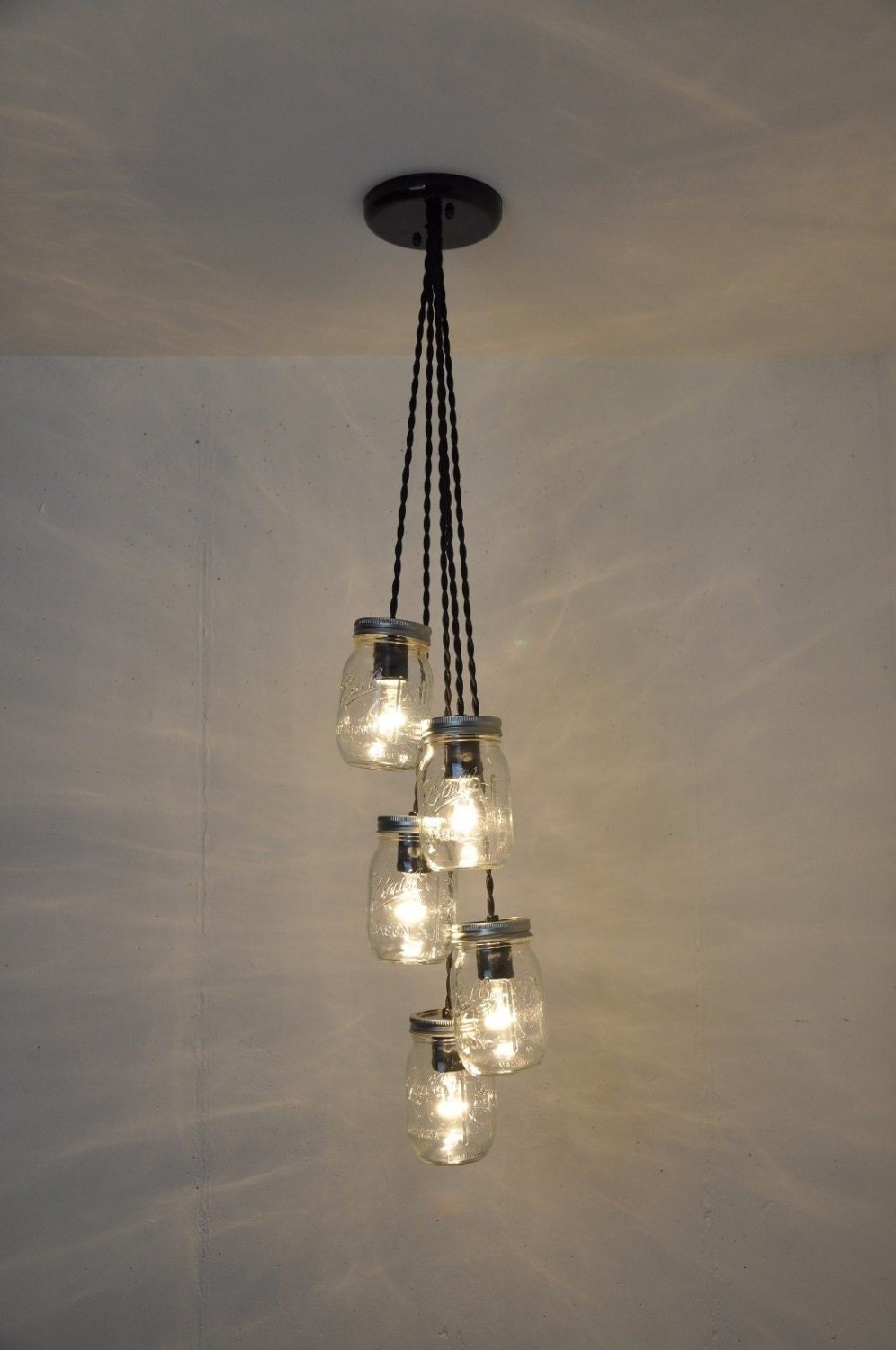 Mason jar chandelier mason jar light fixture ball jar ceiling mason jar chandelier mason jar light fixture ball jar ceiling light mason jar pendant light plug in pendant light hanging fixture aloadofball Image collections