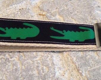 Green Gator Wristlet