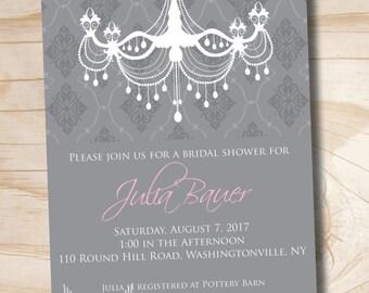 ELEGANT CHANDELIER Bridal Shower Baby Shower Invitation - You Print