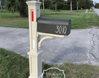 TWO Vinyl Mailbox Decals, Mailbox Numbers, Mailbox Stickers, Address Numbers