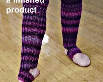 CROCHET PATTERN - Ribbed Stirrup Legwarmer Crochet Pattern - Dance legwarmers - skating legwarmers - boot socks - DIY project