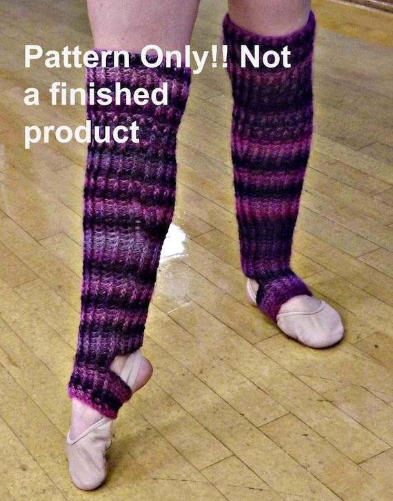 CROCHET PATTERN Ribbed Stirrup Legwarmer Crochet Pattern
