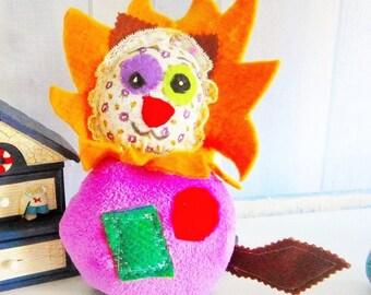 Plush lion - lion toy - gift - handmade - new - born, Made in France - leschiffonsdeguetty