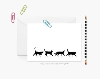 Cat Greeting Card | Cat Lady Card | Cat Lover Card | Birthday Card | Mothers Day Card | Animal Card | Cat Gifts | Cute Card | GCBCA603
