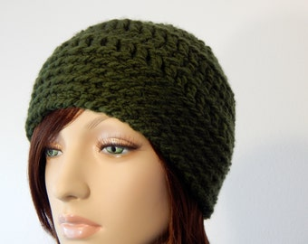 Crochet PATTERN PDF, The Fern Beanie, Winter Hats, Ladies Crochet Hat Pattern, Ski Hat Crochet Pattern, MarlowsGiftCottage, Womens Crochet