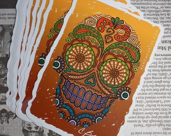 Calavera Decal | Sticker | Dia De Los Muertos | Sugar Skull