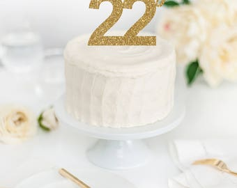 Feeling 22 Cake Topper 22nd Birthday Party Twenty Two 22